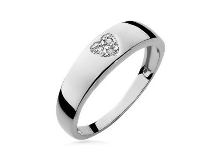 Bague en diamants Heart 0.023 ct
