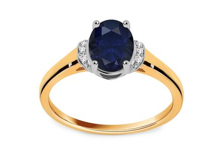 Bague saphir et diamants de collection Night Sky 0.030 ct
