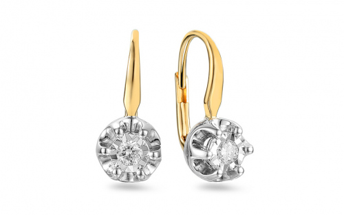 Boucles d'oreilles en or avec diamants de 0,180 ct - IZBR062