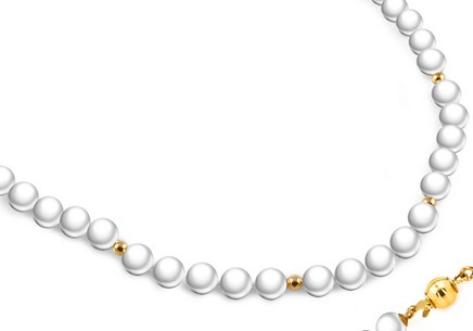 Collier en perles blanches nature