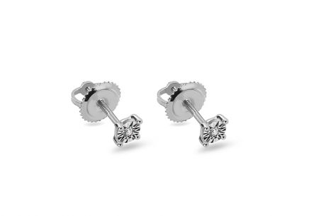Boucles d'oreilles diamant en or blanc 0,030 ct
